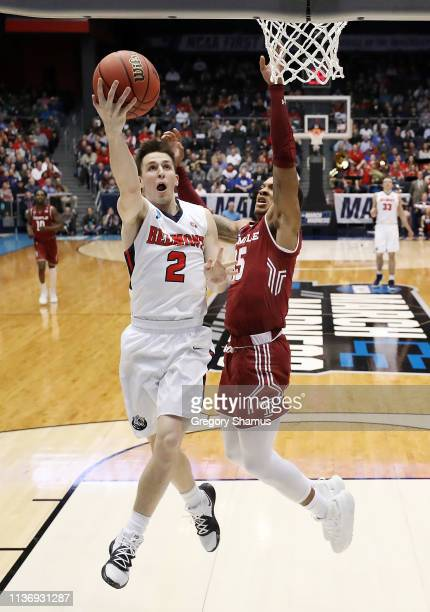 Grayson Murphy of the Belmont Bruins shoots the ball during the first half against the Temple Owls in the First Four of the 2019 NCAA Men's...