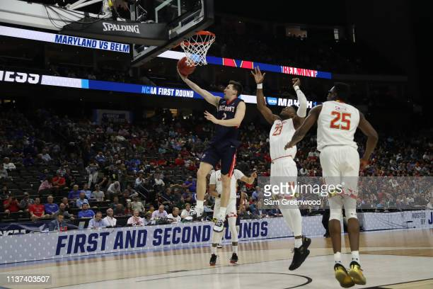 Grayson Murphy of the Belmont Bruins takes a shot against Maryland Terrapins in the first half during the first round of the 2019 NCAA Men's...