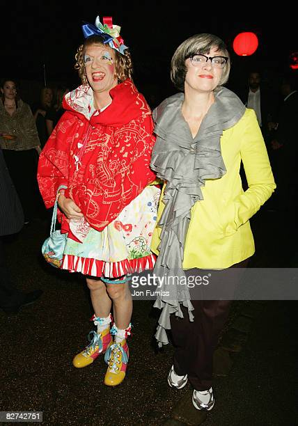 Grayson Perry and his wife Philippa attend the summer party at The Serpentine Gallery on September 9 2008 in London England