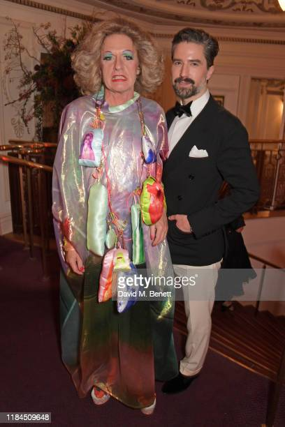 Grayson Perry and Jack Guinness attend the 65th Evening Standard Theatre Awards in association with Michael Kors at the London Coliseum on November...