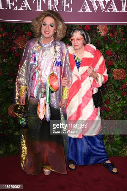 Grayson Perry and Philippa Perry attend the 65th Evening Standard Theatre Awards at London Coliseum on November 24 2019 in London England