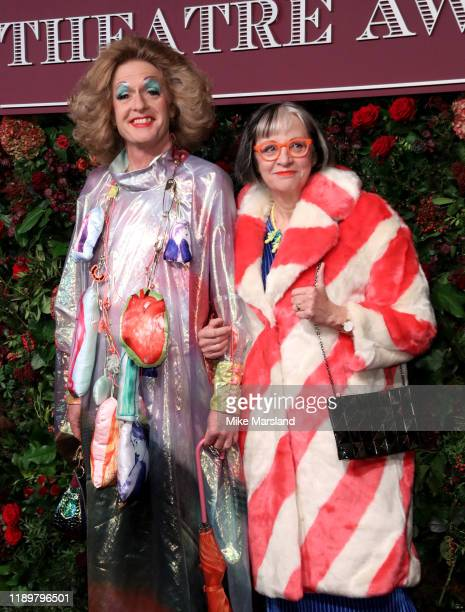 Grayson Perry and Philippa Perry attend the 65th Evening Standard Theatre Awards at the London Coliseum on November 24 2019 in London England