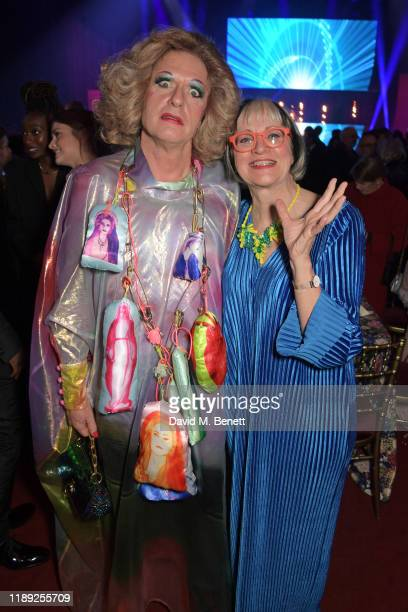 Grayson Perry and Philippa Perry attend the after party of the 65th Evening Standard Theatre Awards in association with Michael Kors at the London...