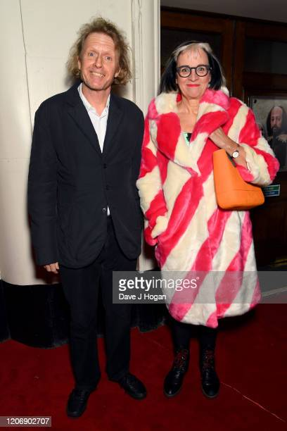 Grayson Perry and Philippa Perry attend the Upstart Crow press night at Gielgud Theatre on February 17 2020 in London England