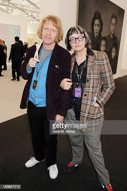 Grayson Perry and Phillipa Perry attend a VIP Preview of the Frieze Art Fair in Regent's Park on October 10 2012 in London England