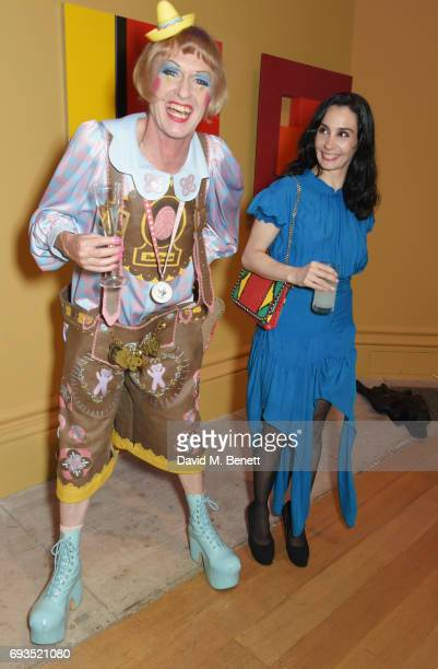 Grayson Perry and Tamara Rojo attend the Royal Academy Of Arts Summer Exhibition preview party at Royal Academy of Arts on June 7 2017 in London...