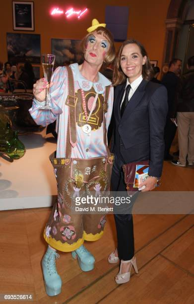 Grayson Perry and Victoria Pendleton attend the Royal Academy Of Arts Summer Exhibition preview party at Royal Academy of Arts on June 7 2017 in...