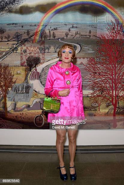 Grayson Perry attends Mulberry's Special Private View of his exhibition The Most Popular Art Exhibition Ever at The Serpentine Gallery on June 8 2017...