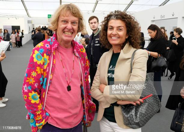 Grayson Perry attends the Frieze Art Fair VIP Preview in Regent's Park on October 2 2019 in London England