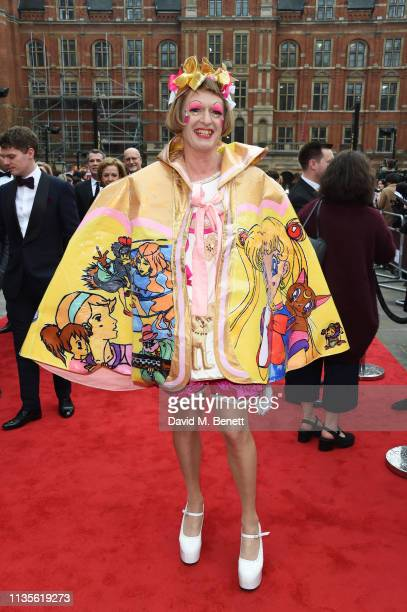 Grayson Perry attends The Olivier Awards 2019 with Mastercard at The Royal Albert Hall on April 7 2019 in London England