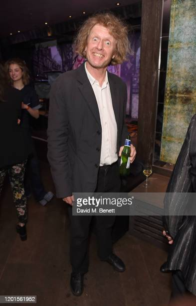 Grayson Perry attends the press night after party for The Upstart Crow at 100 Wardour St on February 17 2020 in London England