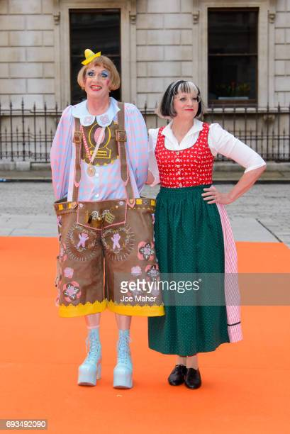Grayson Perry attends the preview party for the Royal Academy Summer Exhibition at Royal Academy of Arts on June 7 2017 in London England