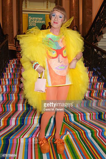 Grayson Perry attends the Royal Academy of Arts Summer Exhibition preview party at the Royal Academy of Arts on June 3 2015 in London England