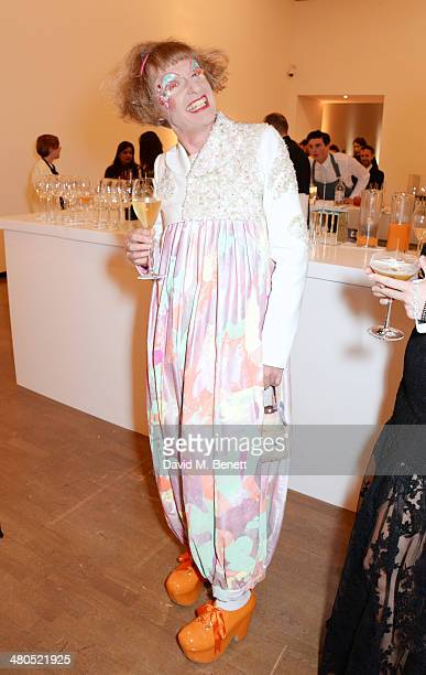 Grayson Perry attends the Royal Academy Schools annual dinner and auction 2014 at Royal Academy of Arts on March 25 2014 in London England