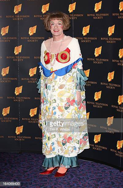 Grayson Perry attends the RTS Programme Awards at Grosvenor House on March 19 2013 in London England