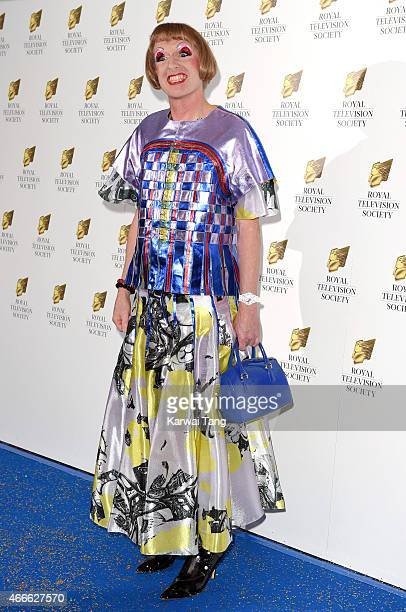 Grayson Perry attends the RTS Programme Awards at The Grosvenor House Hotel on March 17 2015 in London England