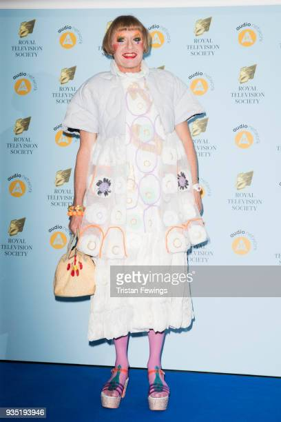 Grayson Perry attends the RTS Programme Awards held at The Grosvenor House Hotel on March 20 2018 in London England