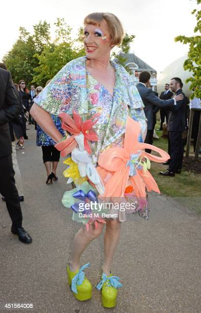 Grayson Perry attends The Serpentine Gallery Summer Party cohosted by Brioni at The Serpentine Gallery on July 1 2014 in London England