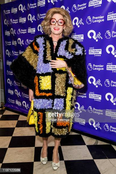 Grayson Perry attends the Ultimate News Quiz drinks reception at Grand Connaught Rooms on March 20 2019 in London England This annual charity quiz is...