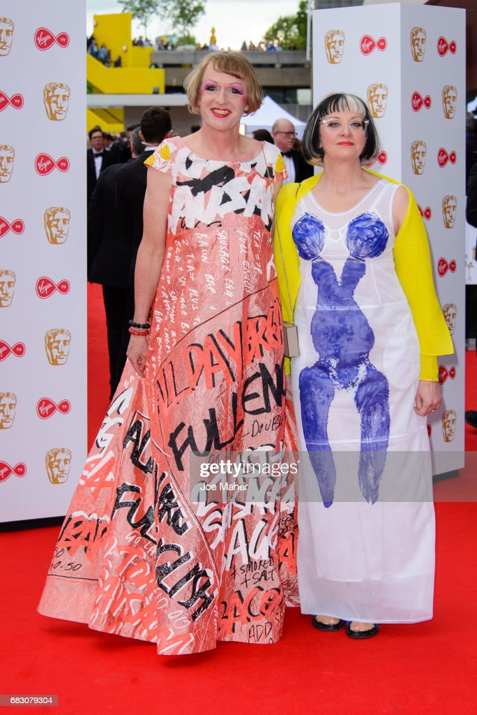 Grayson Perry attends the Virgin TV BAFTA Television Awards at The Royal Festival Hall on May 14, 2017 in London, England.