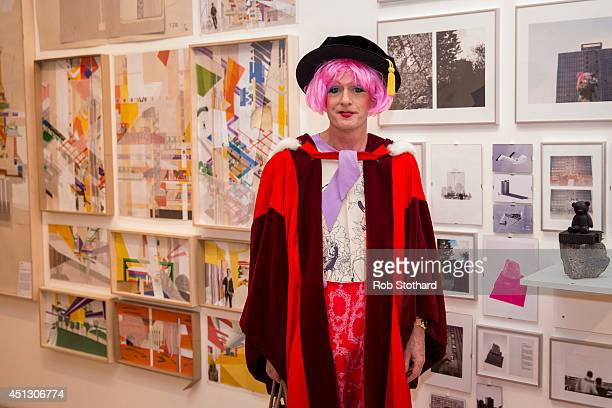 Grayson Perry CBE waits to receive an Honorary Doctorate at the Royal College of Art convocation ceremony at Royal Albert Hall on June 27 2014 in...