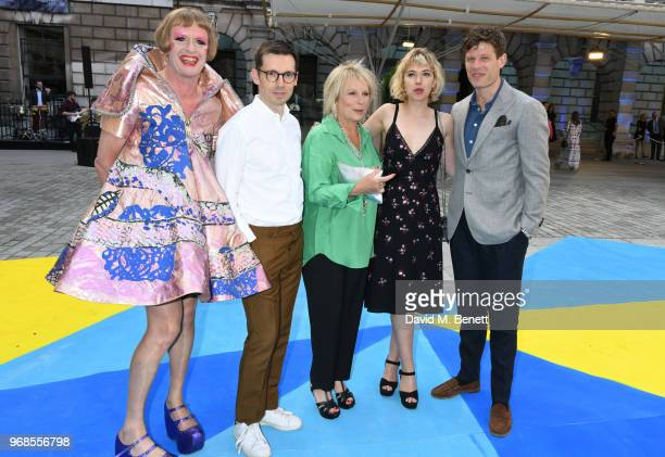 Grayson Perry Erdem Moralioglu Jennifer Saunders Imogen Poots and James Norton attends the Royal Academy Of Arts summer exhibition preview party 2018...