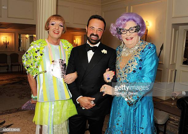 Grayson Perry Owner of the London Evening Standard Evgeny Lebedev and Dame Edna Everage attend a drinks reception at the 59th London Evening Standard...