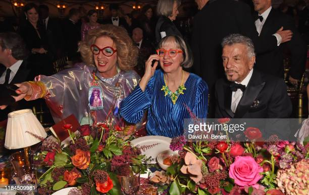 Grayson Perry Philippa Perry and Nicky Haslam attend the 65th Evening Standard Theatre Awards in association with Michael Kors at the London Coliseum...