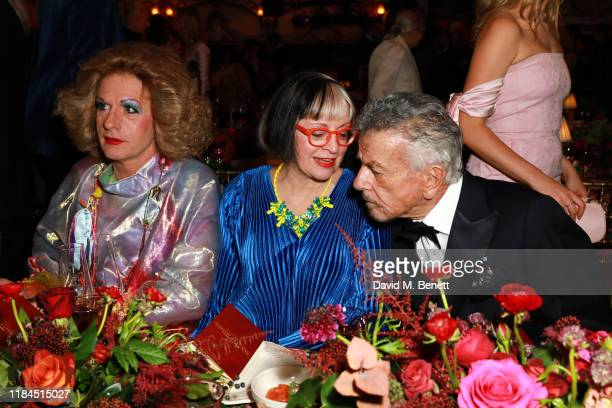 Grayson Perry Philippa Perry and Nicky Haslam attend the 65th Evening Standard Theatre Awards In Association With Michael Kors at London Coliseum on...