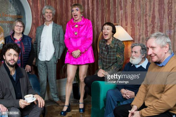 Grayson Perry RA standing in The Academicians Room with Conrad Shawcross Phyllida Barlow Piers Gough Cornelia Parker Tom Phillips and Chris Orr at...