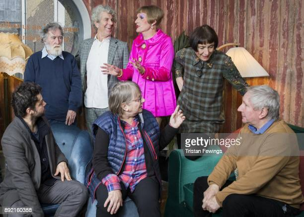 Grayson Perry RA standing in The Academicians Room with Conrad Shawcross Tom Phillips Piers Gough Phyllida Barlow Cornelia Parker and Chris Orr at...