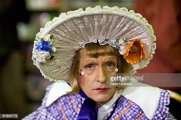 Grayson Perry Turner Prize winning Artist and Potter poses for a portrait at the Cheltenham Literature Festival on October 15 2009 in Cheltenham...