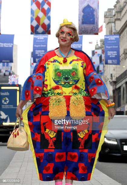 Grayson Perry unveiling the RA250 Flags across London's West End on June 4 2018 in London England