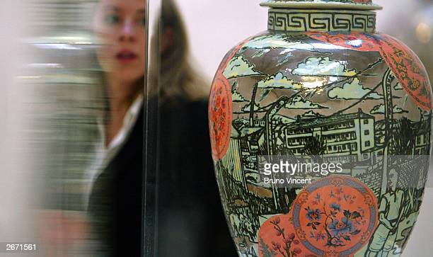 Grayson Perry's Turner Prize entry is displayed at the Tate Britain Gallery October 28 2003 in London