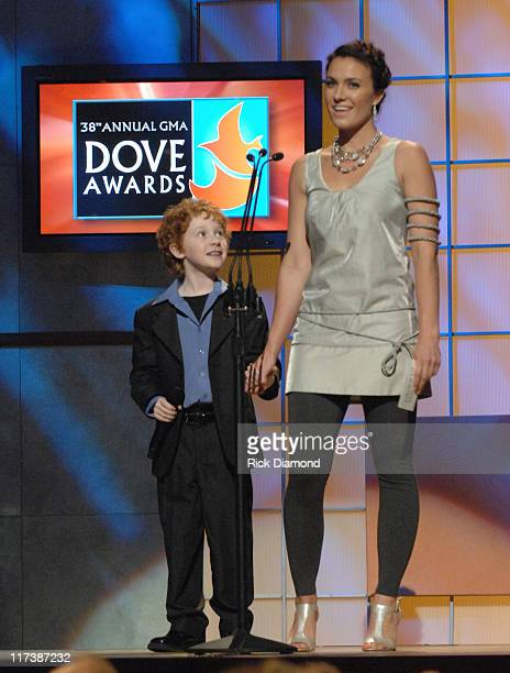 Grayson Russell and Rebecca St. James during 38th Annual GMA DOVE Awards - Show at Grand Old Opry in Nashville, Tennessee, United States.