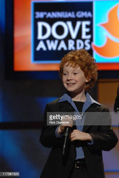 Grayson Russell during 38th Annual GMA DOVE Awards - Show at Grand Old Opry in Nashville, Tennessee, United States.
