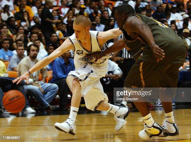 Grayson 'The Professor' Boucher of Team AND1 in action against Los Angeles at The Great Western Fourm in Inglewood California June 9 2004