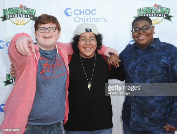 Grayson Thorne Kilpatrick Nathan Arenas and Akinyele Caldwell attend the 3rd Annual 'Play For A Cure' Celebrity Basketball Game To Benefit CHOC...
