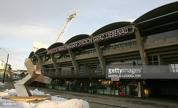 Photo shows 15 December 2005 the SchwarzeneggerStadium that hosts the two local soccer clubs SK Sturm and Grazer AK which are in Austria's highest...