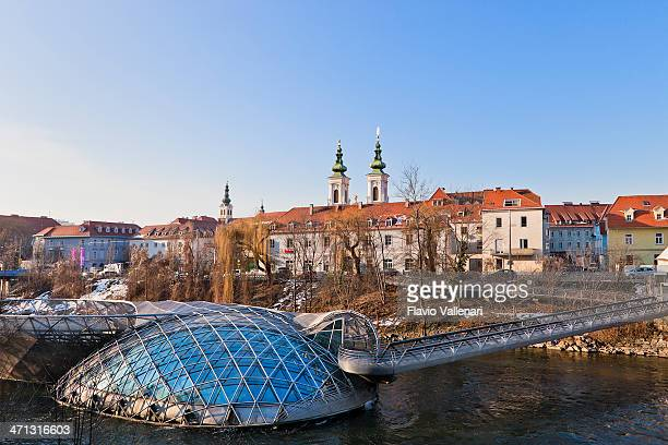 graz cityscape, austria - graz stock photos and pictures