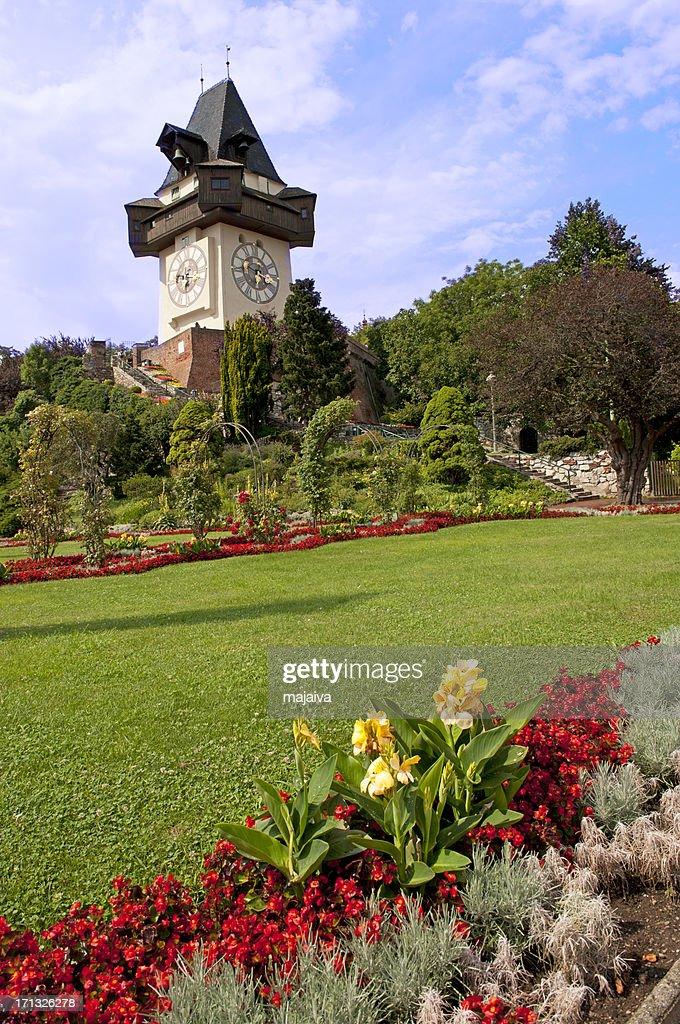 Graz Clock Tower : Stock Photo