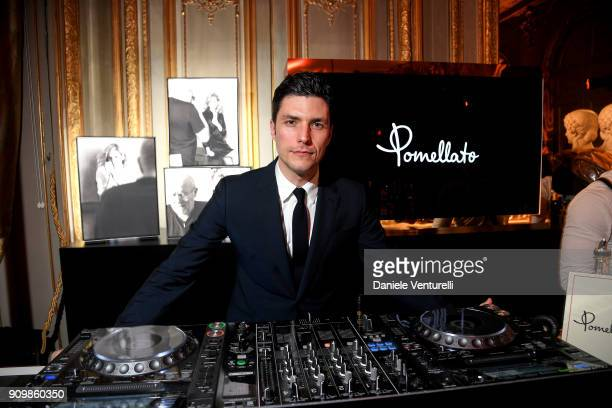 Graziano della Nebbia DJs at the Pomellato after party for the new campaign launch with Chiara Ferragni as part of Paris Fashion Week during...