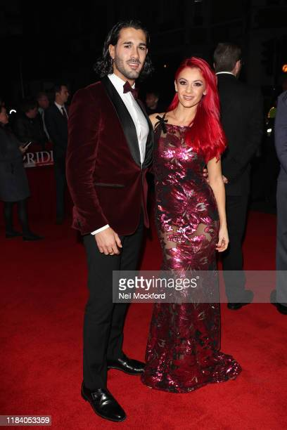 Graziano Di Prima and Dianne Buswell arrive on the red carpet of Pride of Britain 2019 at Grosvenor House Hotel on October 28 2019 in London England