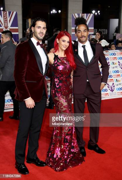 Graziano Di Prima Dianne Buswell and Dev Griffin attend Pride Of Britain Awards 2019 at The Grosvenor House Hotel on October 28 2019 in London England