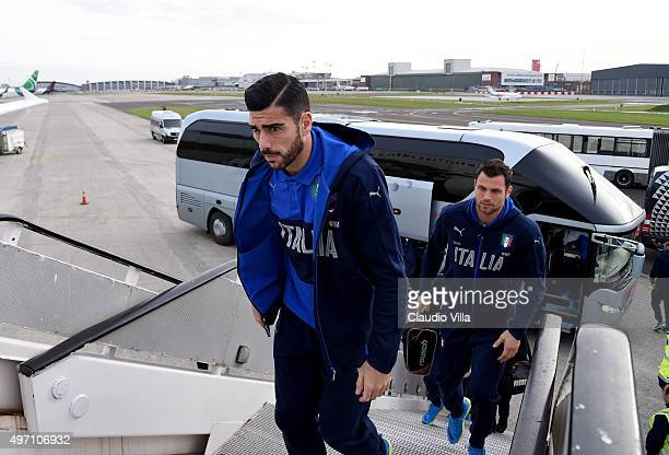 Graziano Pelle of Italy departs to Florence from the Brussels Airport on November 14 2015 in Brussels Belgium