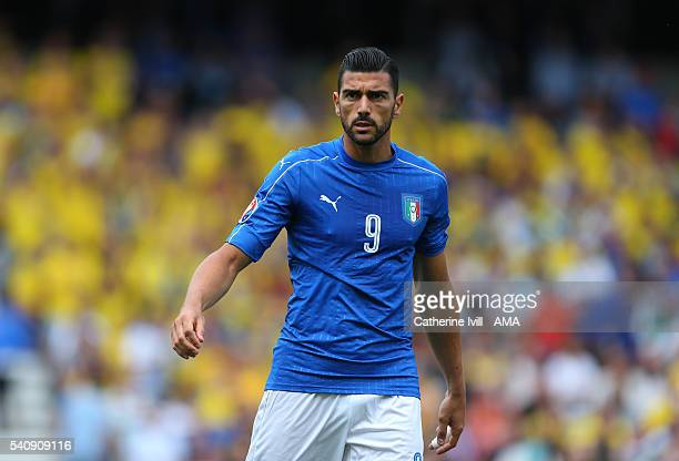 Graziano Pelle of Italy during the UEFA EURO 2016 Group E match between Italy and Sweden at Stadium Municipal on June 17 2016 in Toulouse France