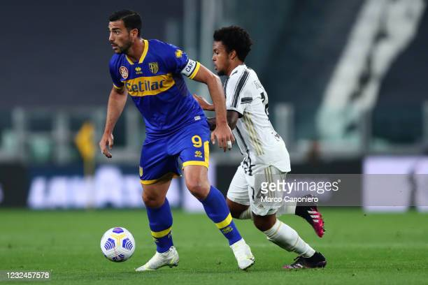 Graziano Pelle of Parma Calcio in action during the Serie A match between Juventus Fc and Parma Calcio. Juventus Fc wins 3-1 over Parma Calcio.