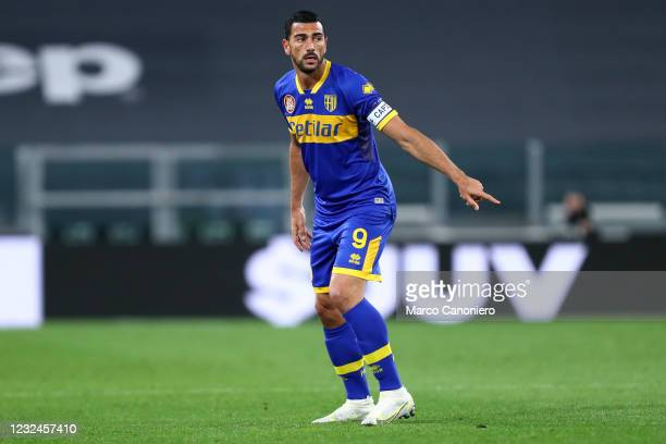 Graziano Pelle of Parma Calcio looks on during the Serie A match between Juventus Fc and Parma Calcio. Juventus Fc wins 3-1 over Parma Calcio.