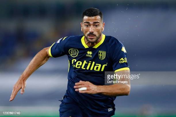 Graziano Pelle of Parma Calcio looks on during the Serie A match between SS Lazio and Parma Calcio at Stadio Olimpico on May 12, 2021 in Rome, Italy....