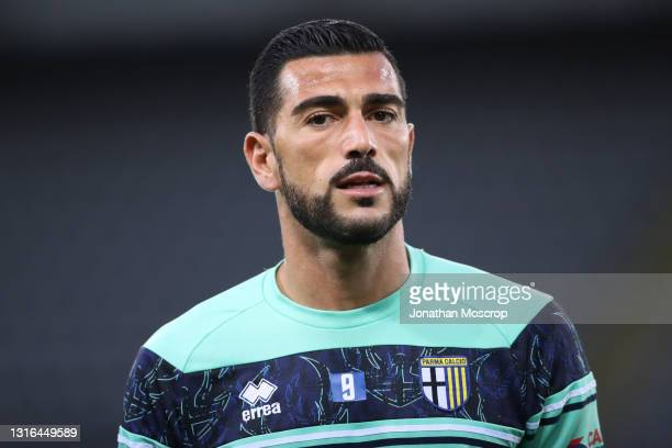 Graziano Pelle of Parma Calcio looks on during the warm up prior to the Serie A match between Torino FC and Parma Calcio at Stadio Olimpico di Torino...